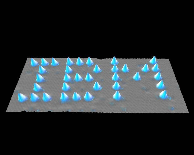Àtoms de xenon sobre níquel