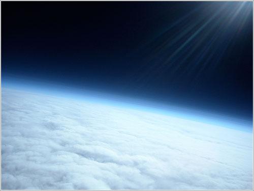 La Terra des de 30 Km d'alçada. La Tierra desde 30 Km de altura.