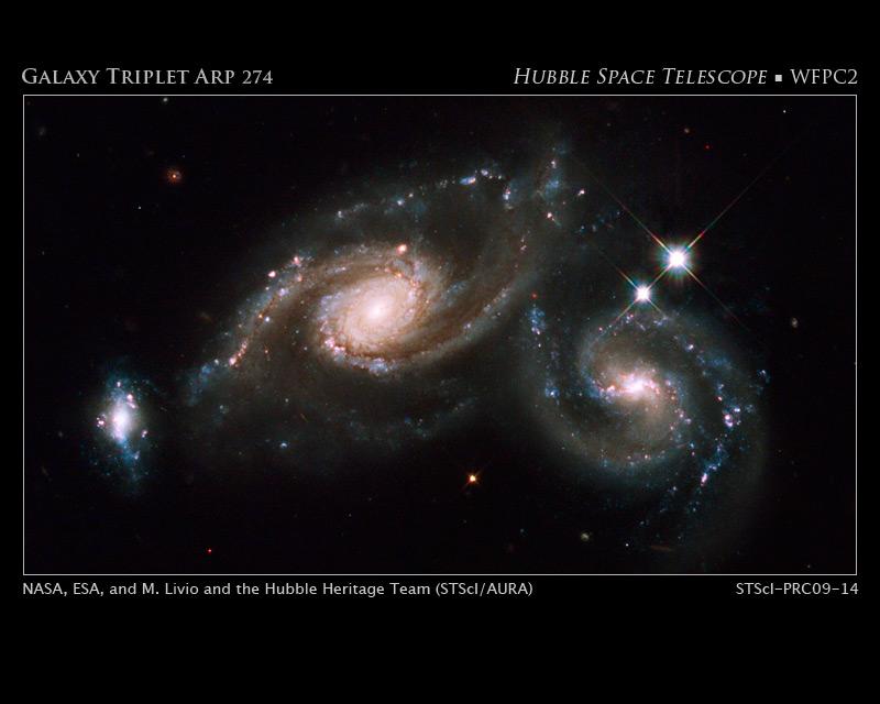 ARP274, pel telescopi espacial Hubble